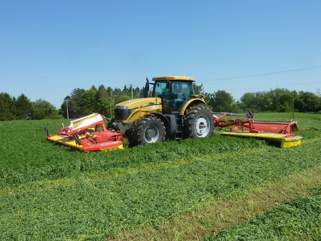 Challenger MT645C tractor with front mounted mower