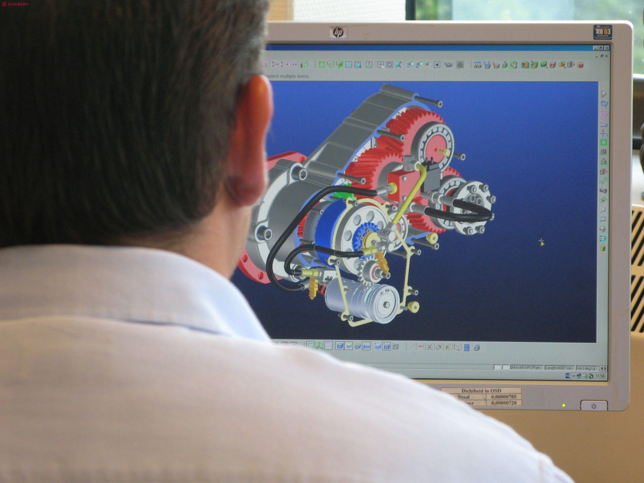 3D design of a multi step transmission