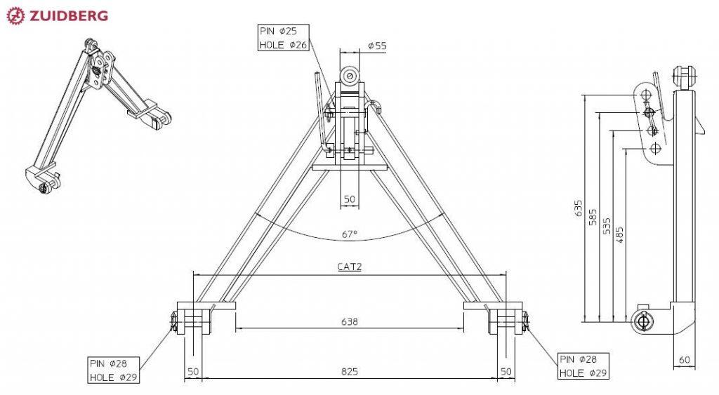 Quick attach A-frame - Zuidberg